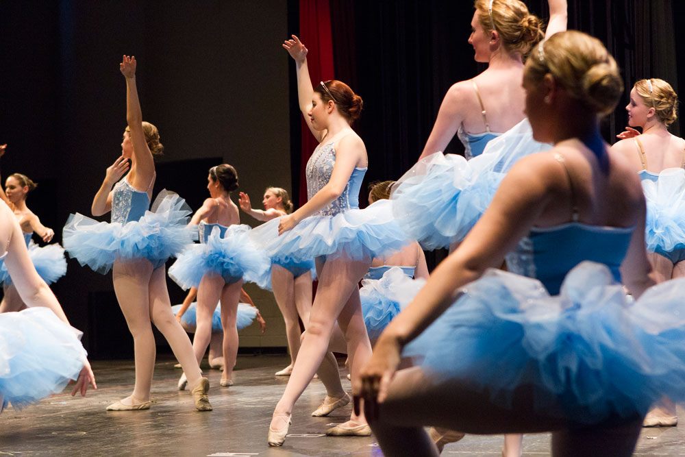 Ballet dancers take the stage at the Sharon Davis School of Dance recital in Tallahassee.