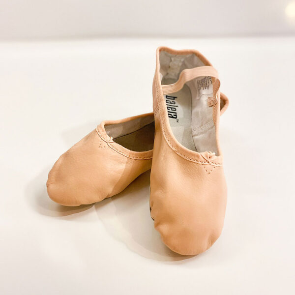 A pair of Balera Dancewear pink ballet slippers/ballet shoes at Tallahassee's Sharon Davis School of Dance.