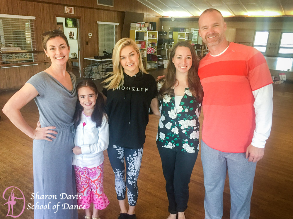 "David Ross and Lindsay Arnold of ""Dancing with the Stars"" rehearsed in Tallahassee at Sharon Davis School of Dance."